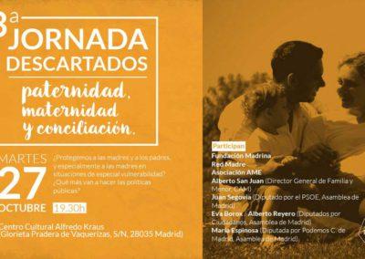 Noticias relacionadas con la III Jornada de Descartados sobre maternidad, paternidad y conciliación