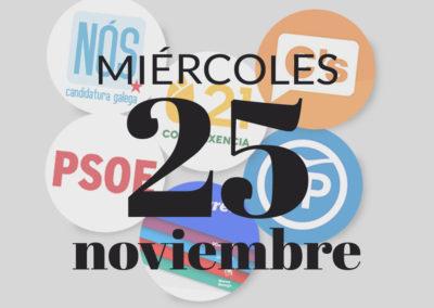 Debate en Santiago de Compostela sobre las elecciones generales